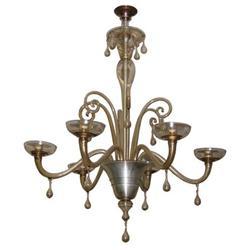 Art Deco Martinuzzi Venini Glass Chandelier #2382115