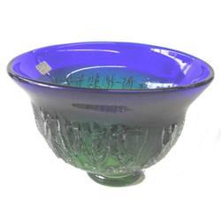 Kosta Blue Green Goran Warff Glass Bowl #2382119