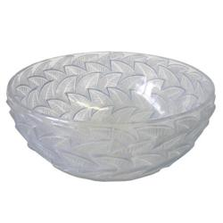 Lalique Centerpiece Bowl with Raised Leaf #2382120