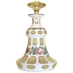 Czech White Cased Glass Perfume Bottle #2382125