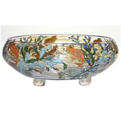 Sevres Footed Bowl w Enamel Fish Motif #2382127