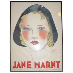 1930 Jane Marny 46x62 Poster by Jean Don #2382134