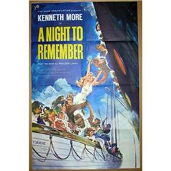 '59 A NIGHT TO REMEMBER 1 Sheet Poster  #2382135