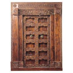 Gujarat Hand-Carved Indian Teak Door Frame #2382139