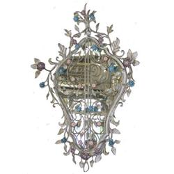 Wrought Iron Floral Mirror & Wall Console #2382144
