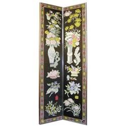 Needlepoint Room Divider Screen Panel #2382145