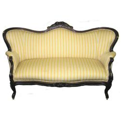 Victorian Style Upholstered Sofa Love Seat #2382148