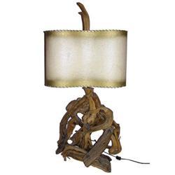 Mid-Century Modern Driftwood Lamp w Original #2382158