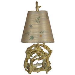 Mid-Century Modern Driftwood Lamp w Original #2382159
