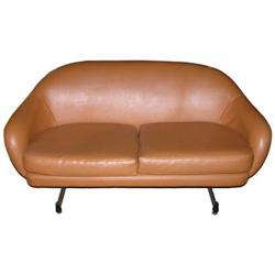 Mid-Century Modern VIKO Leather Loveseat #2382166