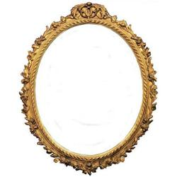 Louis XV Style Giltwood Oval Mirror #2382171