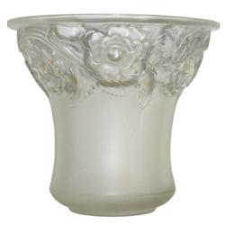 Lalique Orleans Frosted Glass Vase #2382193