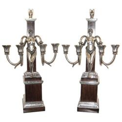Pair of Empire Revival Silver Candelabra #2382204