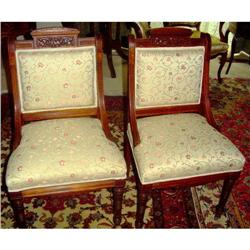 Renaissance Revival Style Walnut Side Chairs   #2382212