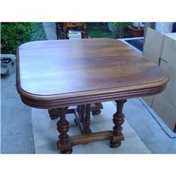 Henri II Style Walnut Dining Table #2382216