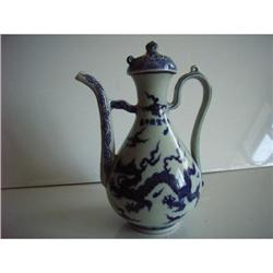 chinese blue and white porcelain teapot #2382237