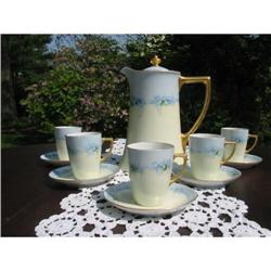 HAND PAINTED LIMOGES CHOC. SET #2382249