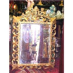 CARVED ITALIAN  GILTWOOD MIRROR #2382257