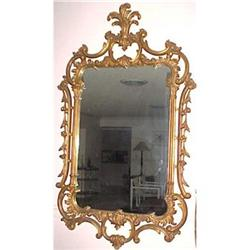 VINTAGE FRENCH STYLE GILTWOOD MIRROR #2382267