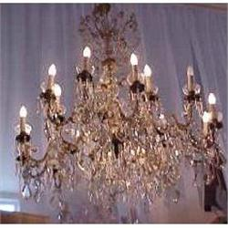 Italian Crystal & Bronze Chandelier #2382273
