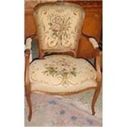 Pair of French Needlepoint Armchairs #2382277