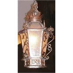 Copper Lantern Fixture Chandelier #2382281