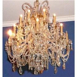 Antique French Crystal Chandelier #2382283