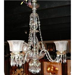 ANTIQUE FRENCH CRYSTAL CHANDELIER #2382286