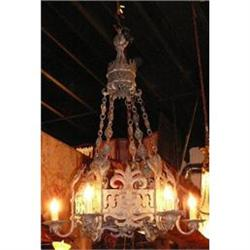 LARGE IRON CHANDELIER FIXTURE #2382287