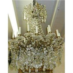 CRYSTAL & BRONZE CHANDELIER #2382288