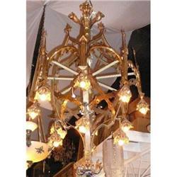 Antique Bronze Gothic Chandelier #2382289