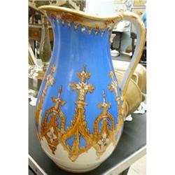 Antique Old Paris Porcelain Pitcher #2382306