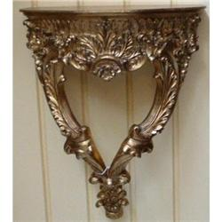 Pair of Giltwood Wall Shelves  Brackets #2382311
