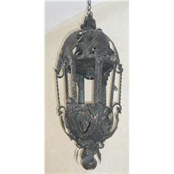 Pair of Italian Iron and Tole Lanterns #2382322