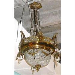 Antique Bronze and Crystal French  Chandelier #2382335