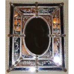 Antique Venetian Murano Glass Mirror #2382338