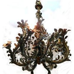Antique Bronze Chandelier Ceiling Fixture #2382342