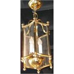 Brass Lantern Chandelier Ceiling Fixture #2382355