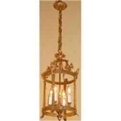 Bronze Lantern Chandelier Ceiling Fixture #2382356