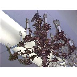 GILT METAL CHANDELIER #2382358