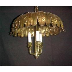 ANTIQUE FRENCH  TOLE CHANDELIER #2382359