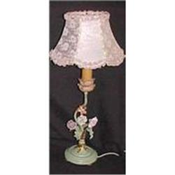 PAIR FRENCH TOLE LAMPS  #2382360