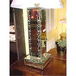 Pair of Mirrored Lamps #2382364