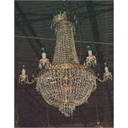 Empire Style Beaded Crystal  Chandelier #2382366