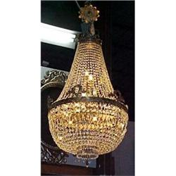 Empire Style Beaded Cryatal Chandelier #2382367