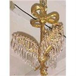 Palm Leaf Crystal Chandelier  #2382368