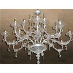Monumental Murano Glass Venetian Chandelier #2382372