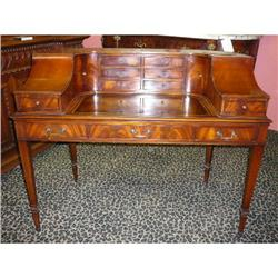 Mahogany Leather Top Desk Writing Table #2382374