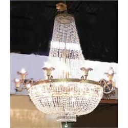 Monumental Empire Style Beaded Chandelier #2382375