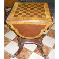 European Mahogany Card Table Game Table  #2382380